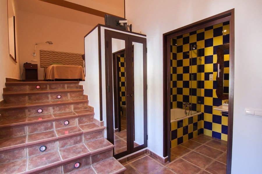 Entrada a la habitación doble Complejo Turístico La Garganta