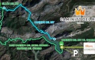 El Caminito del Rey CTR La Garganta parking