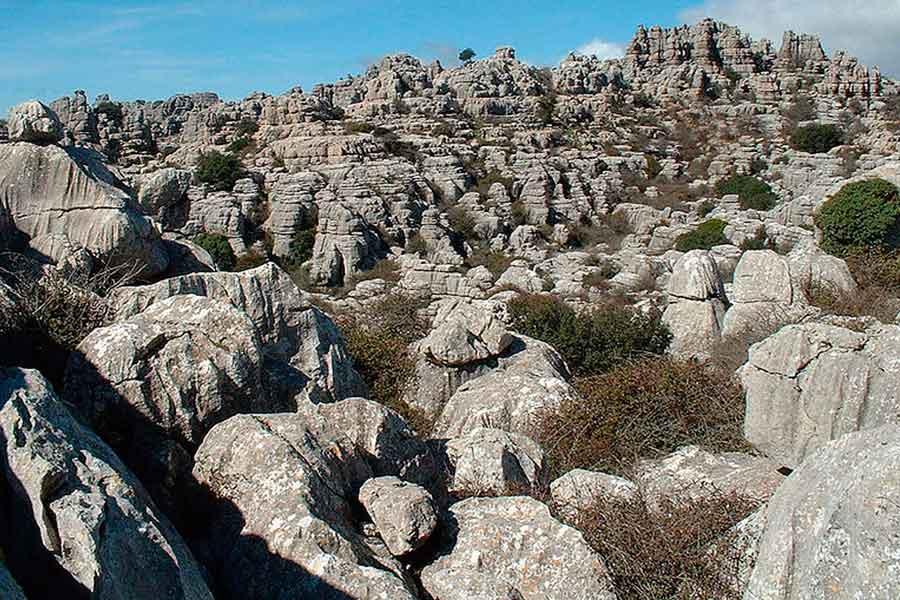 Formas kársticas en El Torcal de Antequera