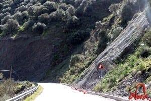 Obras carretera Álora El Chorro