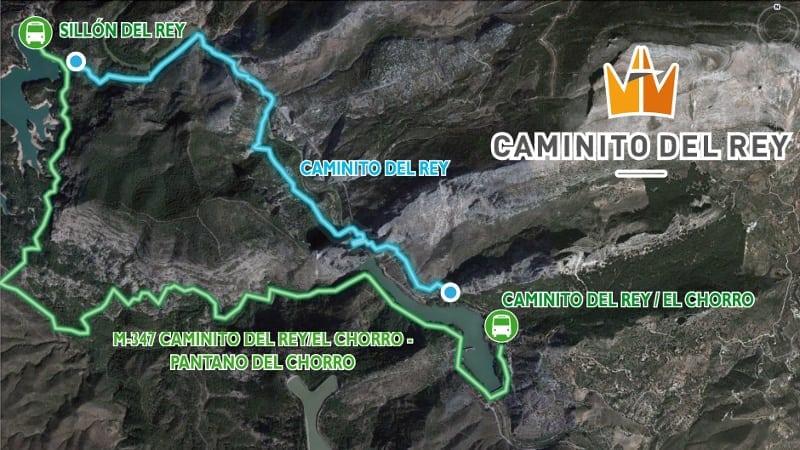 Mapa caminito del rey CTR La Garganta