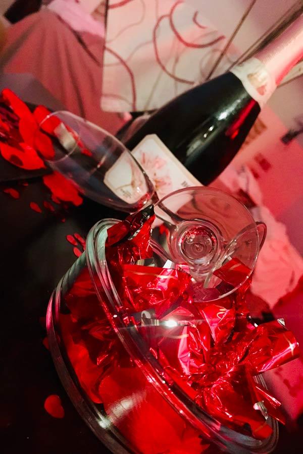 Botella de espumoso San Valentín La Garganta