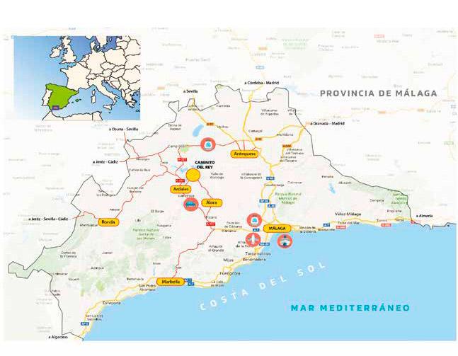 Mapa Candidatura UNESCO Caminito del Rey y su Entorno
