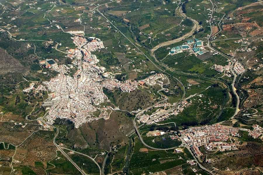 Vista aérea de Álora